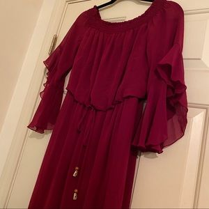 Red Occasion Dress - Medium